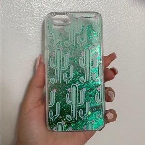 Glitter Cactus Phone case